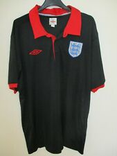Maillot Polo ANGLETERRE Umbro ENGLAND noir shirt collection XXL look vintage