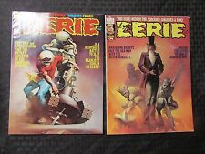 1976 EERIE Warren Horror Magazine LOT of 2 #73 FVF 74 FVF Ken Kelly Cover