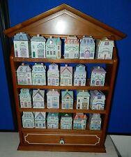 1989, 24 Piece Porcelian Lenox Spice Village with Rack