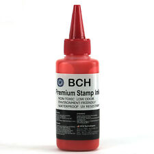 2.5 oz Stamp Refill Ink for Stamps or Stamp Pads RED