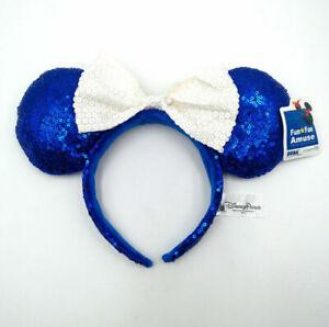 Disney Park Festival Minnie Mouse Ears Mickey Bow Sequins Party Cos Headband