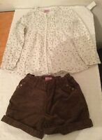 Little Girls Shorts And Top Set 3 -4 Years