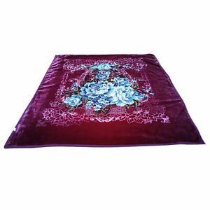 Heavy Korean Mink Blanket Queen & King Size 14 Lbs Thick Warm Plush Soft Purple