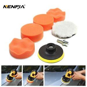 7 Pcs Car Sponge Polishing Pad Set Polishing Buffer Waxing Adapter Drill Tool