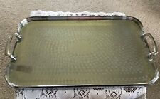Large Vintage Serving Silver Plated Tray