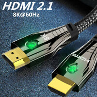HDMI 2.1 UHD 8K High Speed 48Gbps 8K@60Hz 4K@120Hz HDCP2.2 4:4:4 HDR 3D Cable 3m