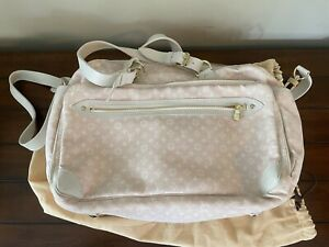 Louis Vuitton Monogram Canvas In Pink Canvasleather Trim Diaper Bag