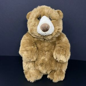 "Dakin Lou Rankin Jasper Grizzly Bear Teddy Brown 13"" Plush Vintage FAST SHIPPING"