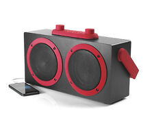 Bluetooth Speaker by INTEMPO Retro Blaster RED Boombox - MP3 Phone Tablet Dock