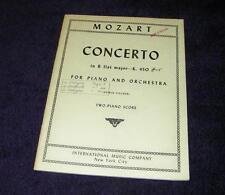 MOZART Concerto in B flat Major-K. 450 for piano & orchestra two-piano score