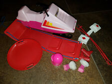 1980s Barbie Outdoor package; snowmobile