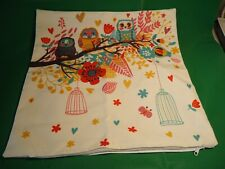 Nicea Decorative Throw Pillow 8X18in 3 Owls on Branch