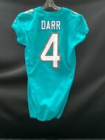 #4 MATT DARR MIAMI DOLPHINS TEAM ISSUED/GAME USED AUTHENTIC NIKE JERSEY SZ-42