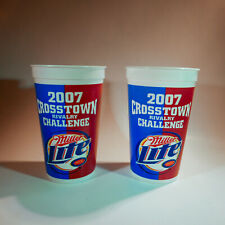 2x UCLA Bruins vs USC Trojans VTG 2007 Crosstown Rivalry Miller Lite Plastic Cup