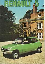 RENAULT 5 brochure 1975 - 5L 5TL, 5TS => POST FREE UK <=