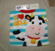 Set of 2 Parents Choice Pullover Baby Bibs Cow Monkey New