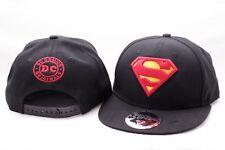 OFFICIAL DC COMICS CLASSIC SUPERMAN SYMBOL/ LOGO BLACK SNAPBACK CAP HAT NEW