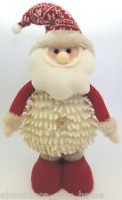 Cream & Red Santa Claus Standing Plush Felt / Knitted Christmas Decoration Toy