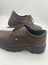 Thorogood Men's Sz 9M Safety Toe Brown Leather Oxford Shoes 804-4760