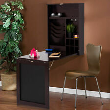 Wall Mounted Table Convertible Desk Fold Out Space Saver Chalkboard Coffee