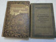 VINTAGE 1896 Hawthorne's Grandfather's Chair True Stories & Wordsworth's Poems