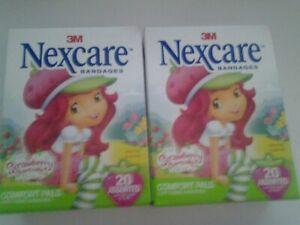 3M nexcare strawberry shortcake COMFORT PALS Bandages  2 PACK **NEW**