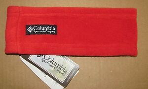 NEW! Columbia Youth RED Fleece Headband Winter Sport  S/M or L/XL