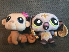 Littlest Pet Shop Lot of 2 Plush Stuffed Animals Toys LPS