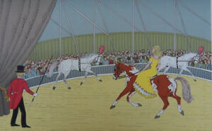 HADDELSEY Vincent : Jeune cavalière au cirque - LITHOGRAPHIE signée #100ex