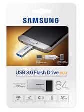 Samsung USB 3.0 Flash Drive DUO Memory Stick 130MB/s MUF-64CB - 64G