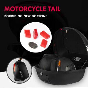 Nuovo Motocicletta 42L Montaggio Universale Bagagli Top Scatola Per 2 Caschi