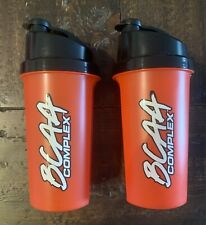 Protein Shaker Cup 2 Pack BPA Free 25 OZ Red Black