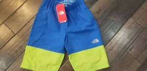 THE NORTH FACE - Boys Swim Trunks/Board Shorts - M (10/12) Blue & Lime Green