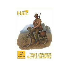HaT 8278 1/72 Plastic WWII Japanese Troops on Bicycles-12 Bikes + Riders