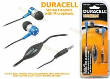 DURACELL STEREO HEADSET WITH MIC MICROPHONE 3.5mm - NEW MODEL DU3002