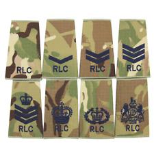 RLC ROYAL LOGISTICS CORP BRITISH ARMY MTP MULTICAM PCS RANK SLIDES