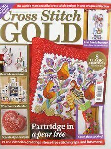 Cross Stitch Gold UK Magazine Issue 39 Dec 2013 Christmas Advent Stocking Santa