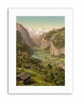 Wengen Schweiz 1925 Vintage Swiss Skiing Travel Poster Giclee Canvas Print 20x32