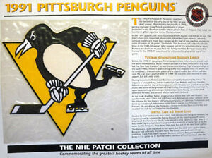 1991 PITTSBURGH PENGUINS Willabee Ward NHL THROWBACK HOCKEY TEAM PATCH Stat Card