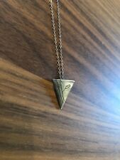 Chocolate and Steel sterling silver triangle necklace 18 inches