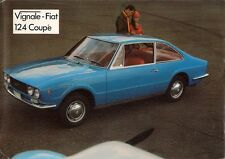 Vignale Fiat 124 Eveline Coupe 1969 UK Market Leaflet Sales Brochure