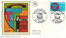 1981**ENVELOPPE SOIE**FDC 1°JOUR!!**TELEMATIQUE**TIMBRE Y/T 2130