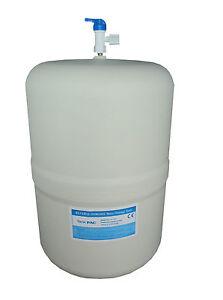 "Reverse Osmosis 3.2g Pressure Vessel Water Storage Tank RO with 1/4"" tank valve"