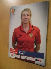 67580 Eveline Fisch FC Basel Damen Frauen original signierte Autogrammkarte