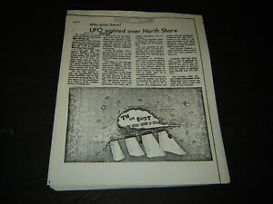 Aerial Phenomenon Clipping Information BIGFOOT-UFO Aliens Newspaper Clippings