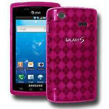 AMZER Luxe Argyle Skin Case Cover for Samsung Captivate i897 - Hot Pink