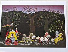 PUSS N BOOTS Poster 2 Children Artwork Fairy Tales 13x10 Offset Lithograph