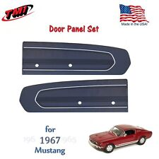Dark Blue Door Panels For 1967 Mustang -Pair - by TMI - Made in USA  In Stock!!