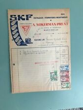 SKF factuur facture old invoice 1945 A Nokerman Preat Marcinelle
