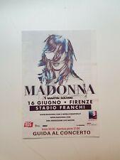 Madonna MDNA Tour Promo Flyer Florence 2012